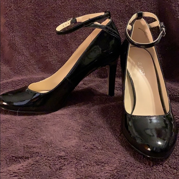 Patent Heels W Ankle Strap Size